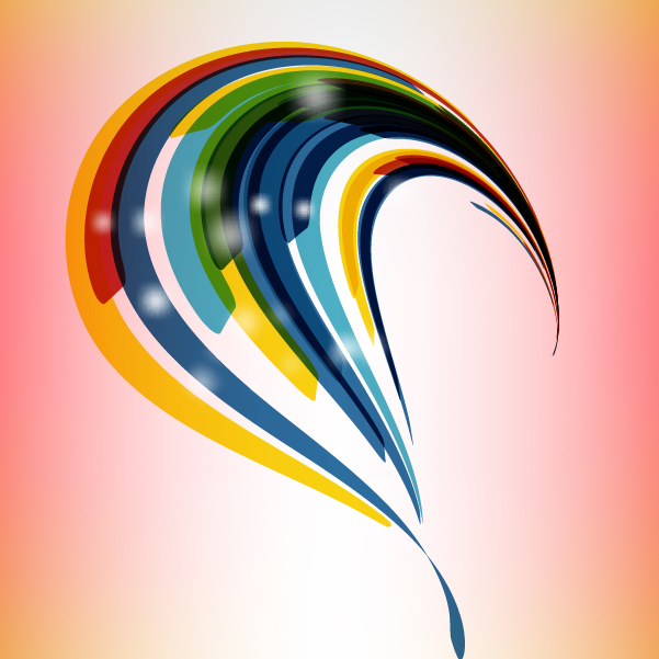 Free Colorful Abstract Curvy Stripes