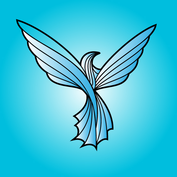Free Vectors: Line Art Dove Bird | VECTOR PORTAL