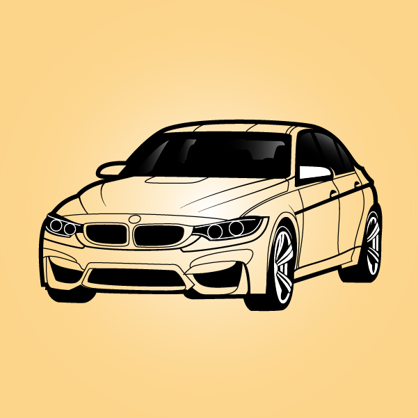 Free Black & White BMW Sedan Car