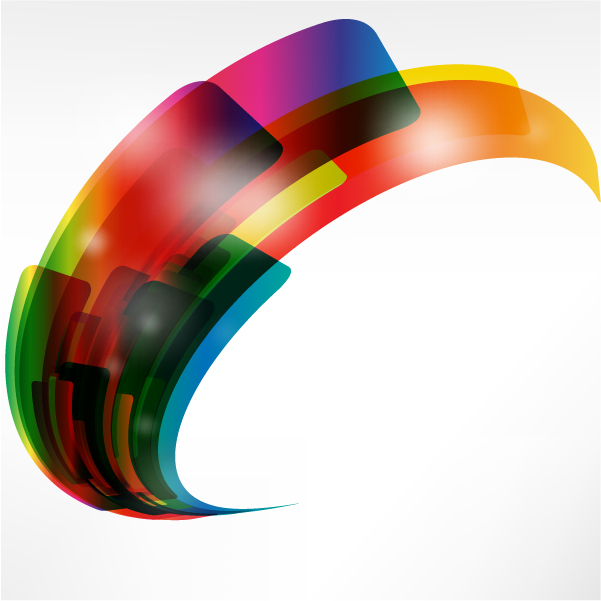 Free Creative Warped Abstract Colorful Shapes
