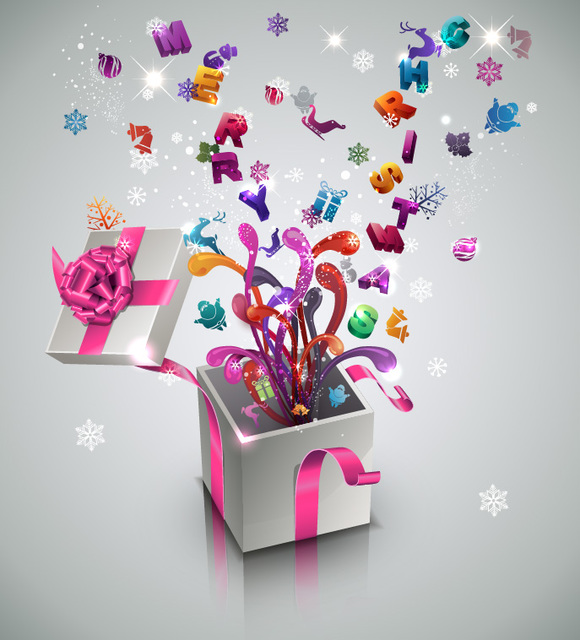 Free 3D New Year & Celebration Gift Box