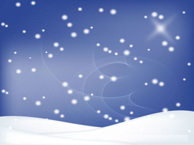 Free Winter Background with Snowy Landscape