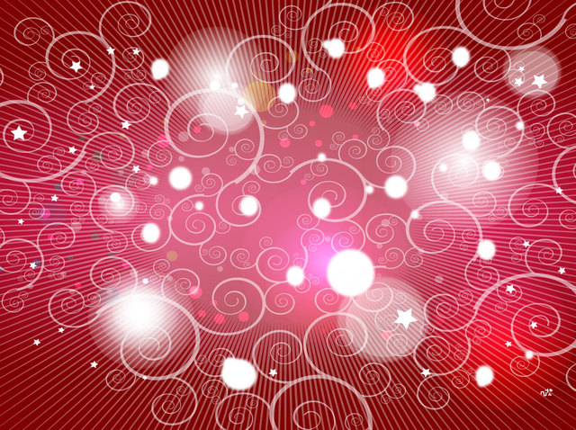 Free Red Background with Swirls and Lights
