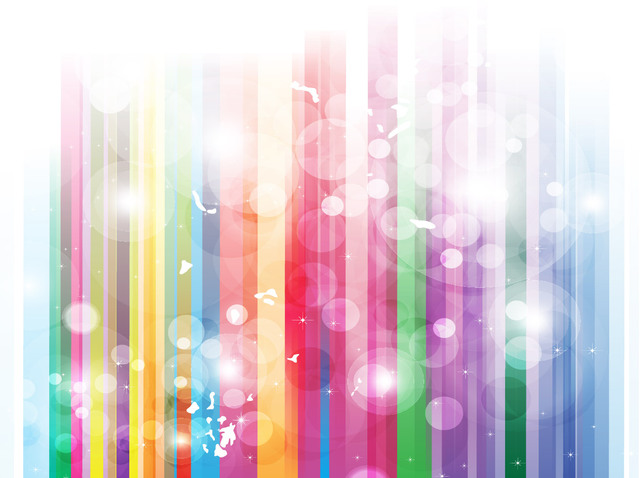 Free Stripy Rainbow Background with Bubbles