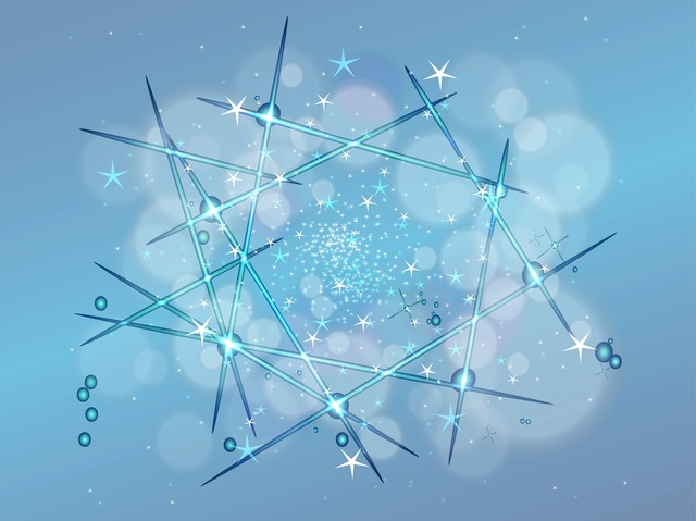 Free Vectors: Starry Sky with Shiny Abstract Lines | Gweb Stock