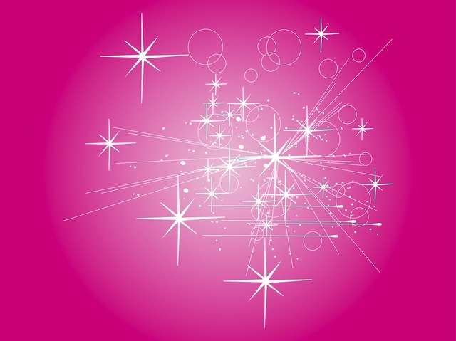 Free Abstract Rays with Starry Pinkish Background