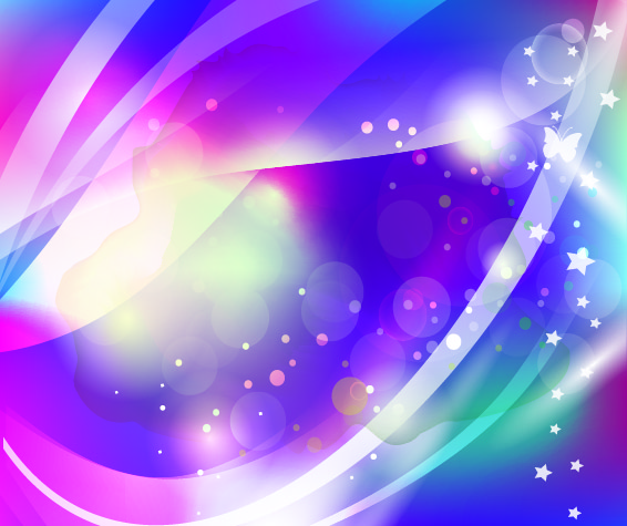 Free Abstract Sparkling Background with Butterfly