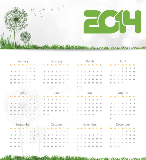 Free Nature Touch 2014 Calendar