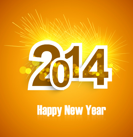 Free Template 2014 New Year Greeting
