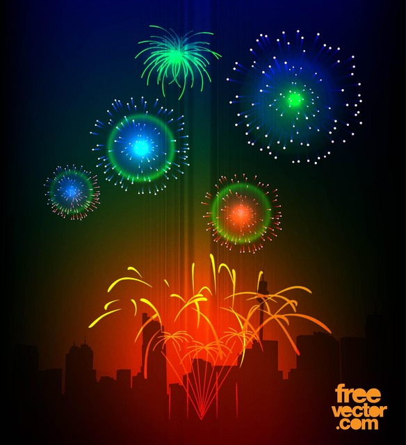 Free Colorful Celebration Night Fireworks