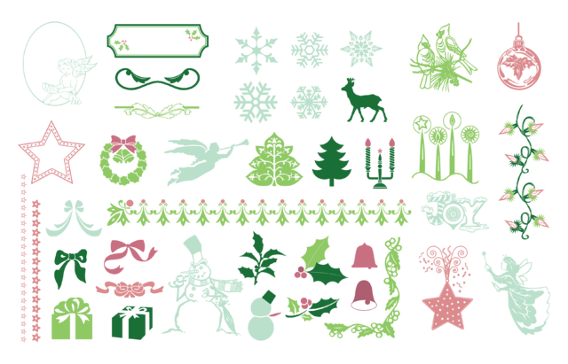 Free Christmas Design Element Pack