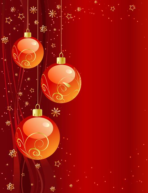 Free Starry & Ornamental Reddish Xmas Background