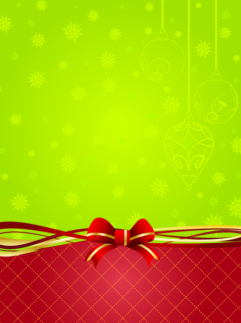 Free Green & Red Xmas Decorate Background