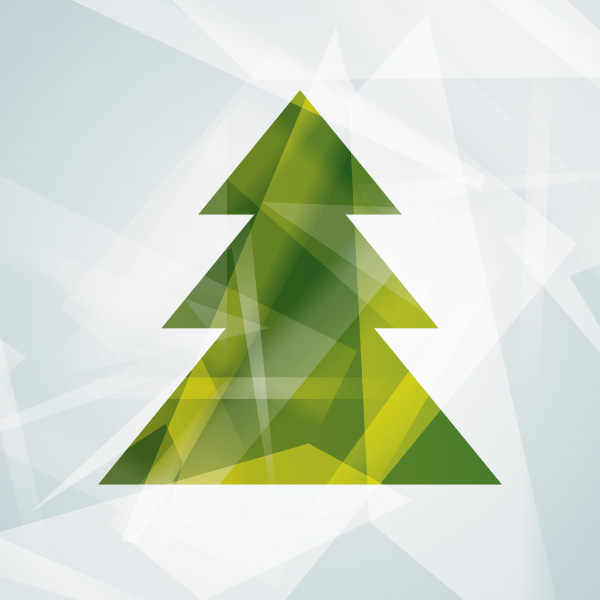 Free Abstract Modern Christmas Tree