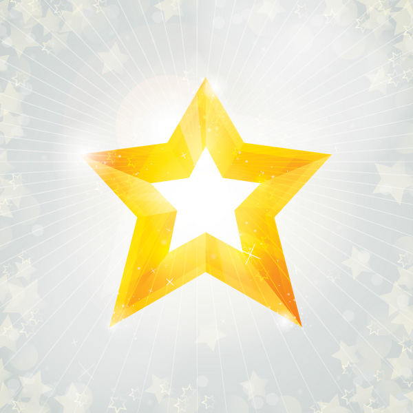 Free Christmas Star on Sunlight Background