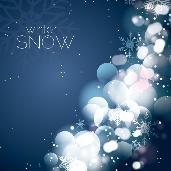 Free Festive Background with Glares & Snow