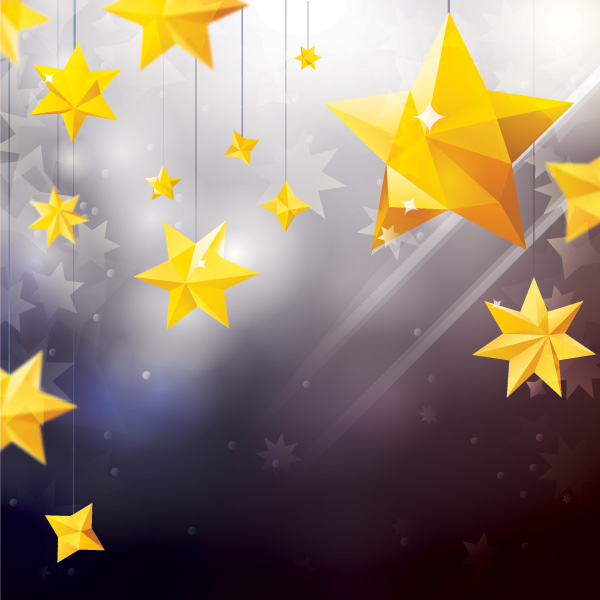 Free Star Ornaments with Lens Background