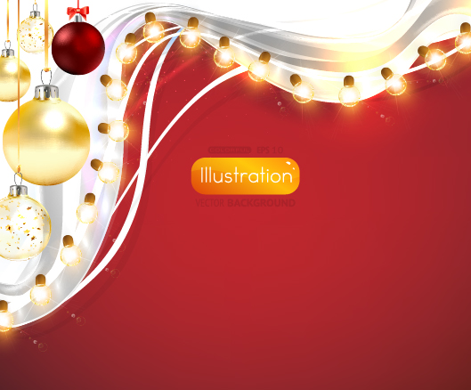Free Ornamental Xmas Card with Light Decoration