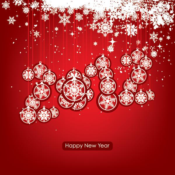 Free New Year & Xmas Ornamental Background
