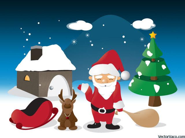 Free Cartoon Christmas Scene Illustration
