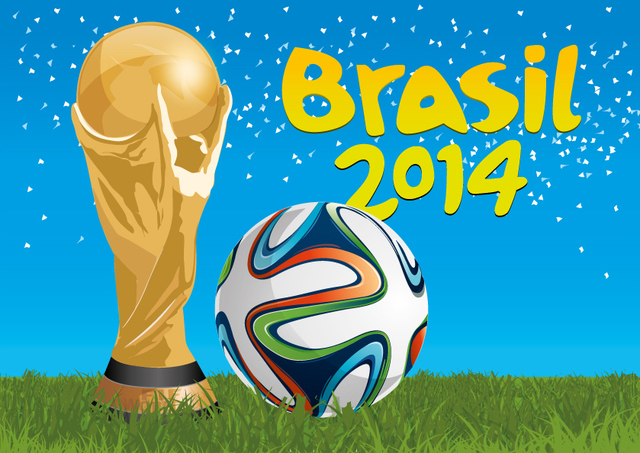 Free Brazil 2014 trophy and football