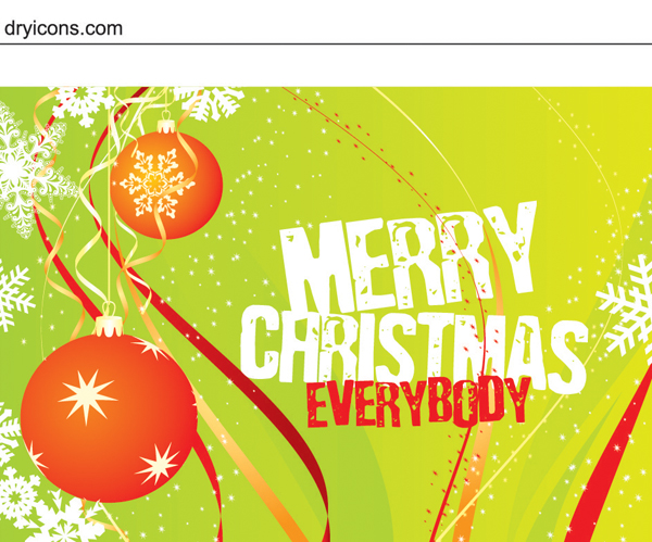 Free Template Christmas Card with Grungy Text