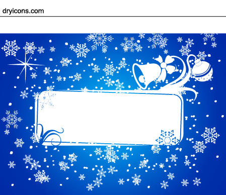 Free Snowy & Ornamental Xmas Card