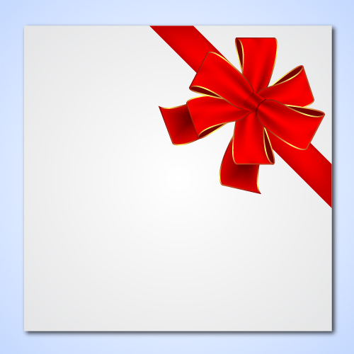 Free Detailed Gift Ribbon Tied on a Paper