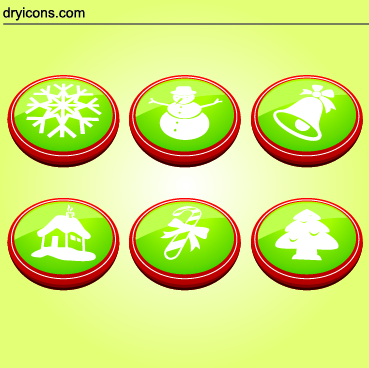 Free 6 Christmas Buttons