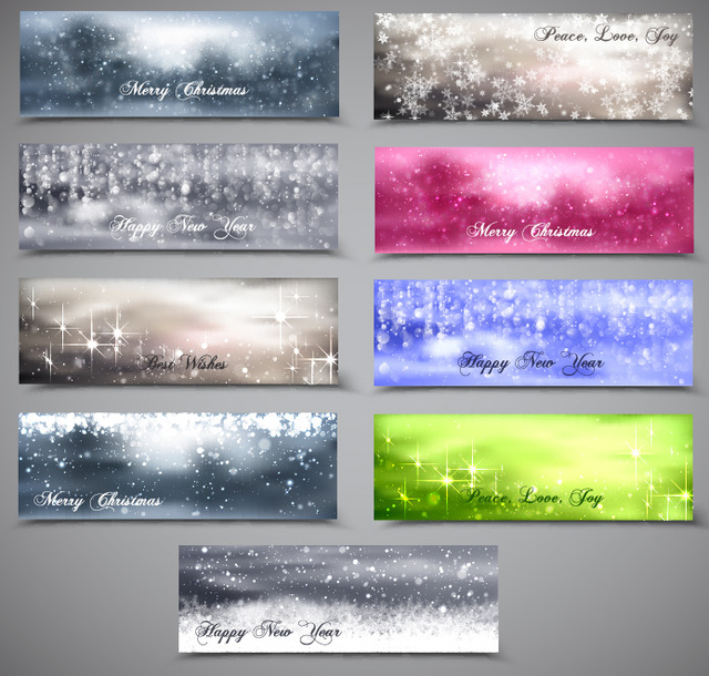 Free Blurry & Snowy Xmas Banner Pack