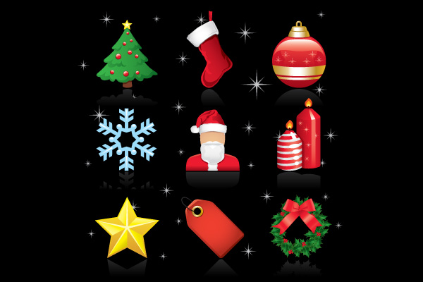 Free Glossy Christmas Ornament Icon Pack
