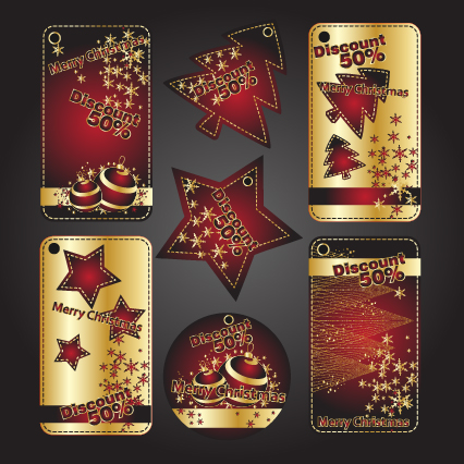 Free Stunning Discount Offer Xmas Banner Set