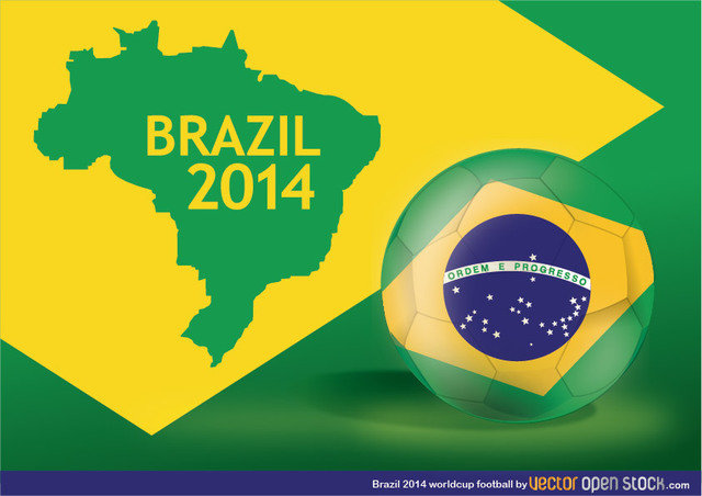 Free Brazil 2014 Worldcup football