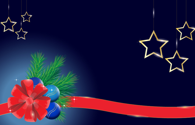 Free Xmas Background with Shiny Ornaments