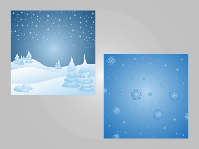 Free 2 Snowy Seasonal Backgrounds