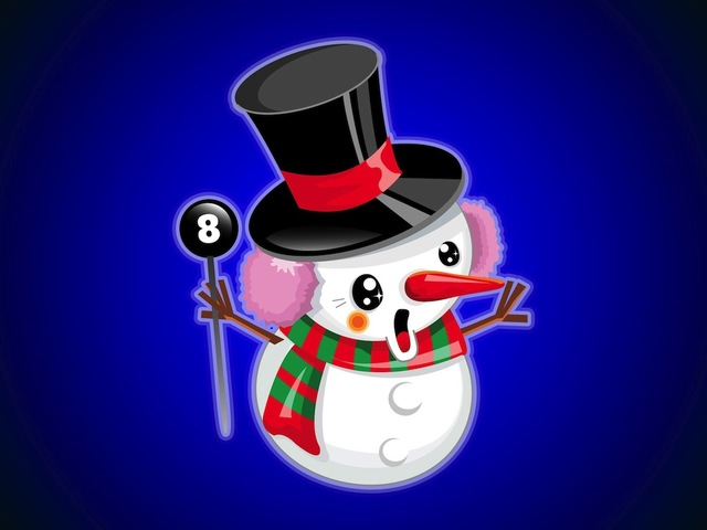 Free Cute Happy Snowman Cartoon