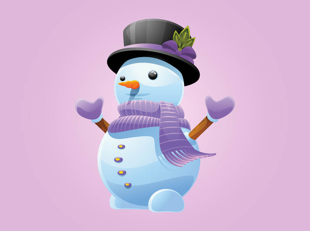 Free Funky Snowman with Matching Winter Cloths