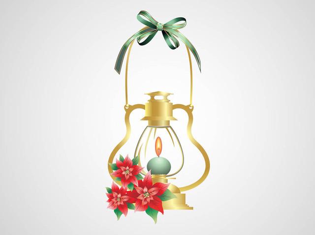 Free Burning Candle Decorative Christmas Lamp