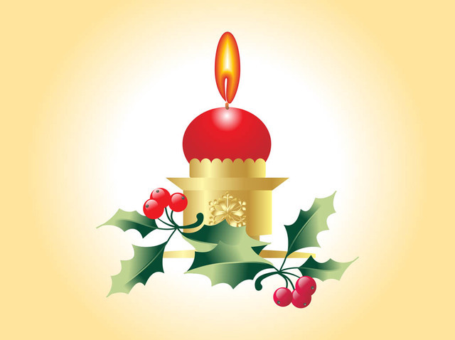 Free Christmas Candle with Festive Plants