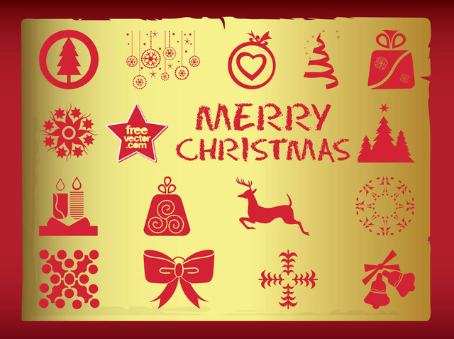 Free Silhouette Vintage Christmas Symbol Pack