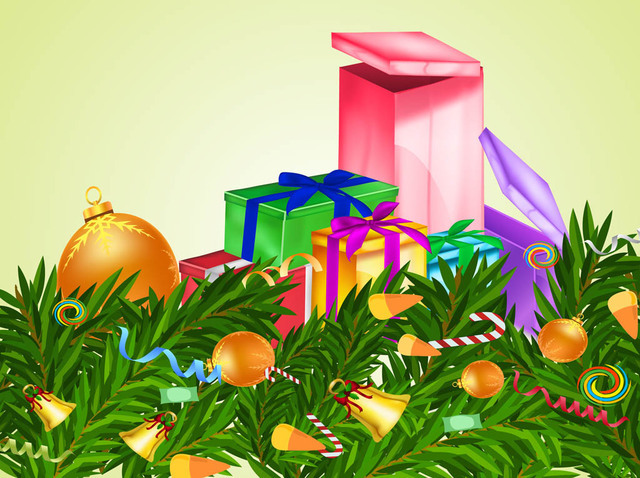 Free 3D Xmas Ornaments & Presents