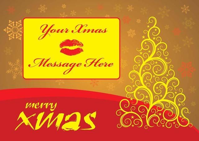 Free Decorative Swirly Christmas Card Template
