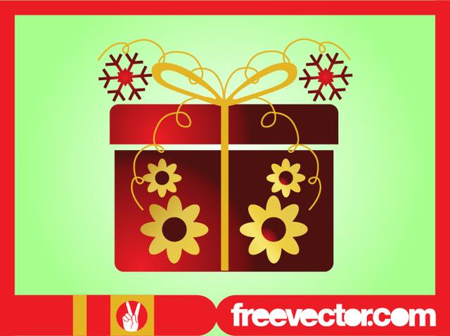 Free Decorative Christmas Present Box