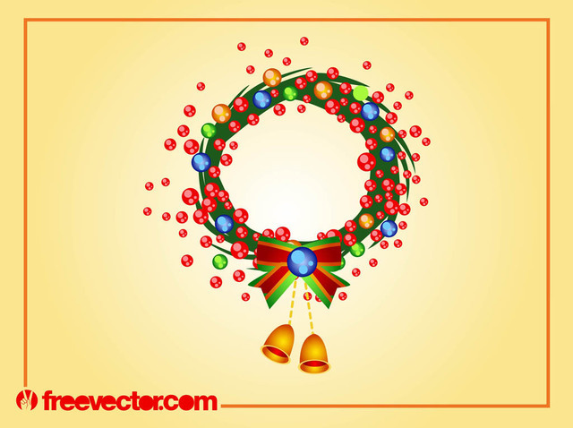 Free Rounded Swirly Christmas Wreath