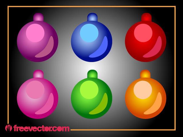 Free Christmas Ornamental Bright Ball Pack