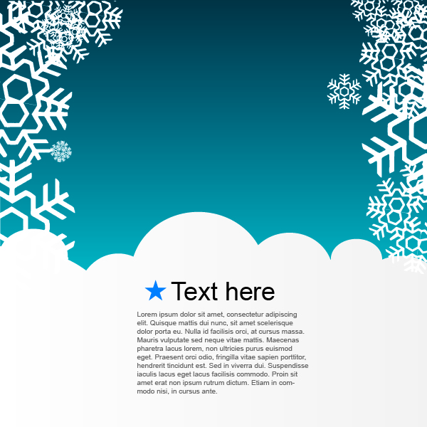 Free Blue Snowy Template Xmas Layout