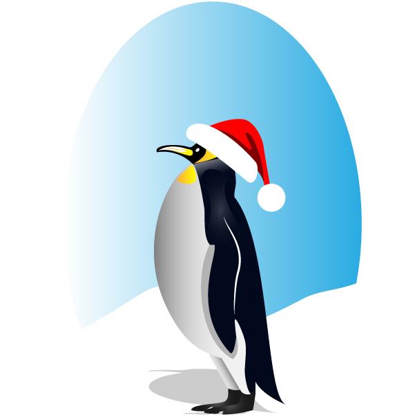 Free Happy Santa Penguin