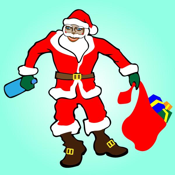 Free Artistic Drunk Santa Claus