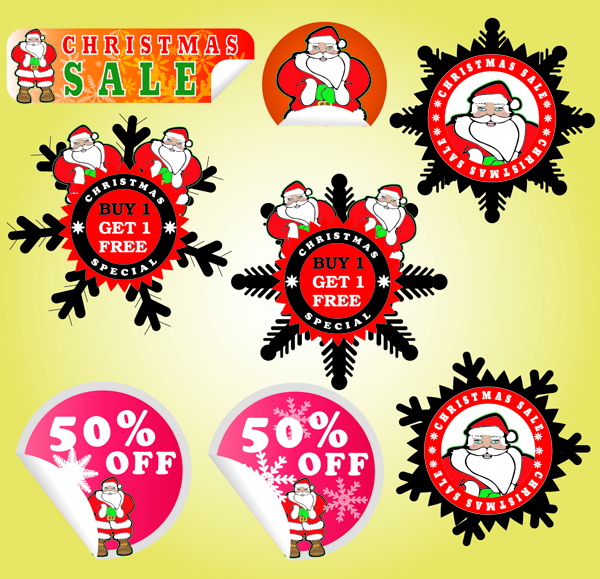 Free Adorable Promotional Christmas Sticker Pack
