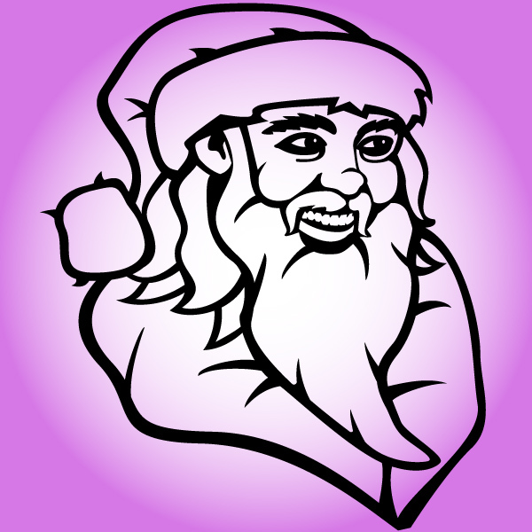 Free Outline Hand Drawn Santa Claus Face